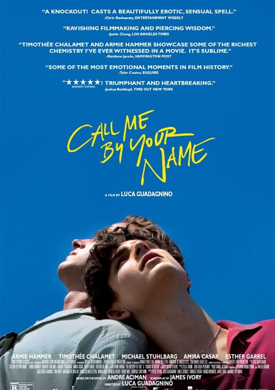 Tráiler de 'Call Me By Your Name'. El despertar sexual gay de un veinteañero Armie Hammer.