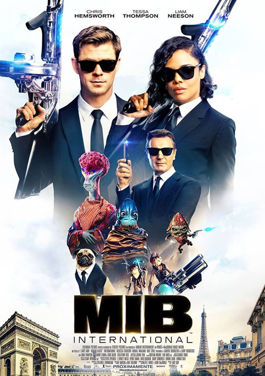 Segundo tráiler de 'Men in Black: International'. Chris Hemsworth y Tessa Thompson se visten de negro para protegernos de lo ultracuerpos.
